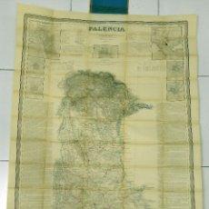 Mapas contemporáneos: MAPA PALENCIA FRANCISCO COELLO ATLAS ESPAÑA Y SUS POSESIONES ULTRAMAR 1852. Lote 55179242