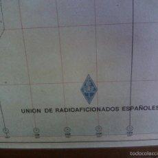Mapas contemporáneos: ~~~~ MAPA ENMARCADO DE PREFIJOS MUNDIALES URE RADIOAFICIONADOS, AÑO 1975 ~~~~. Lote 55401294
