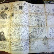 Mapas contemporáneos: RARO PLANO, TEATRO DE LA GUERRA ANGLO BOER, AFRICA AUSTRAL, 1900, 100 X 70 CM, TRANSVAAL, SUDAFRICA. Lote 55615659