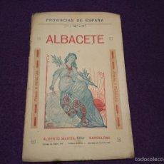 Mapas contemporáneos: MAPA ALBACETE- D. BENITO CHIAS. Lote 55937950