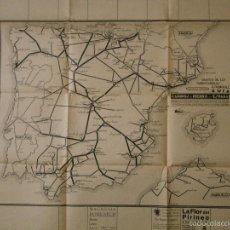 Mapas contemporáneos: MAPA, GRÁFICO DE LOS FERROCARRILES ESPAÑOLES GUIA, CAMINOS DE HIERRO DE ESPAÑA, AÑOS 30/40. Lote 56164218