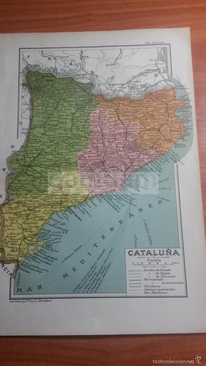 Mapa De Cataluna Ano 1912 Ref Bg 24 5 X 16 Buy Contemporary