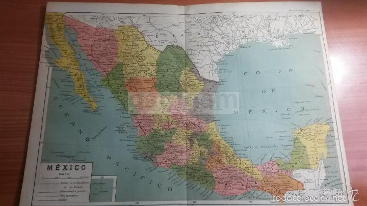 Mejico O Mexico Mapa.Mapa De Mexico Mejico Ano 1912 Ref Bg 24 5 X 32 5 Cm