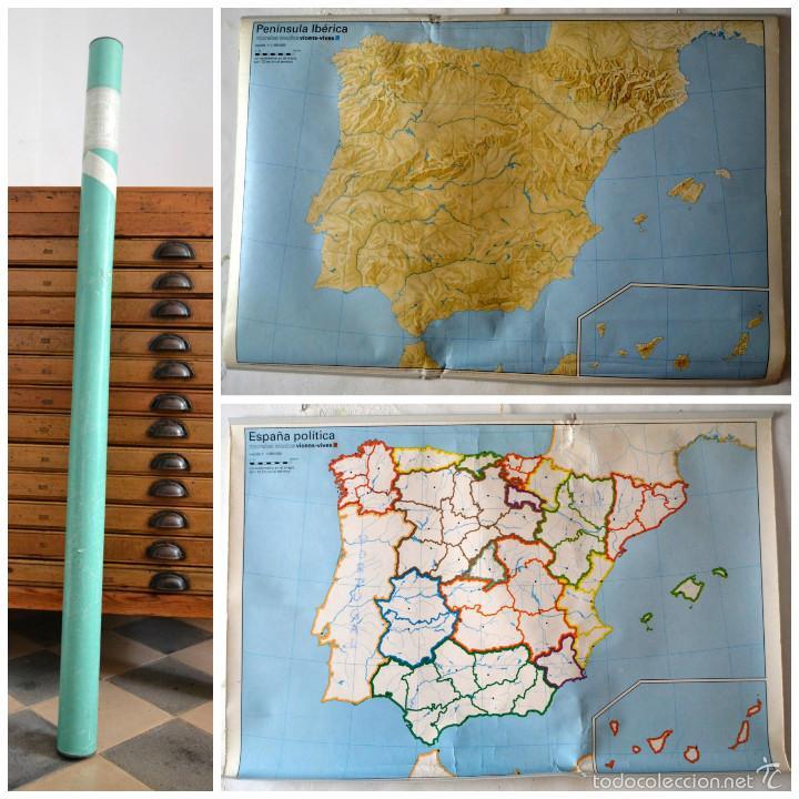 mapa mudo mural historico escuela vincensvives  Comprar Mapas