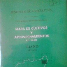 Mapas contemporáneos: MAPA DE CULTIVOS Y APROVECHAMIENTOS DE RIAÑO - 1:50000 - MINISTERIO DE AGRICULTURA. Lote 56622825