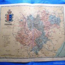 Mapas contemporáneos: MAPA DE LA PROVINCIA DE TERUEL. POR BENITO CHÍAS. EDITOR: ALBERTO MARTIN. BARCELONA, 1901.. Lote 56632531