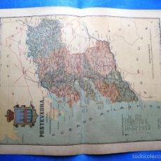 Mapas contemporáneos: MAPA DE LA PROVINCIA DE PONTEVEDRA. POR BENITO CHÍAS. EDITOR: ALBERTO MARTIN. BARCELONA, 1902.. Lote 56633543