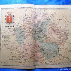 Mapas contemporáneos: MAPA DE LA PROVINCIA DE CUENCA. POR BENITO CHÍAS. EDITOR: ALBERTO MARTIN. BARCELONA, 1901.. Lote 56640389
