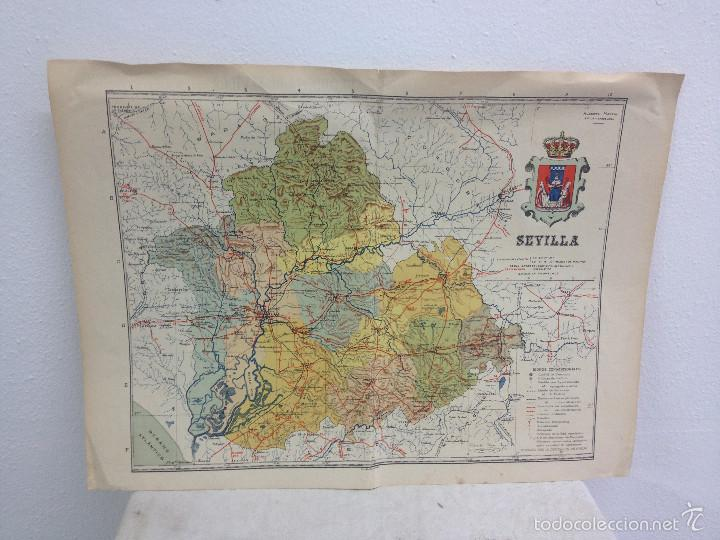MAPA PROVINCIA SEVILLA.INGENIERO BENITO CHÍAS YNG.ESCALA EN KILÓMETROS (Coleccionismo - Mapas - Mapas actuales (desde siglo XIX))