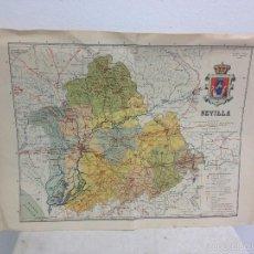 Mapas contemporáneos: MAPA PROVINCIA SEVILLA.INGENIERO BENITO CHÍAS YNG.ESCALA EN KILÓMETROS. Lote 56740260