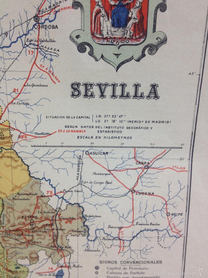 Mapas contemporáneos: MAPA PROVINCIA SEVILLA.INGENIERO BENITO CHÍAS YNG.ESCALA EN KILÓMETROS - Foto 3 - 56740260