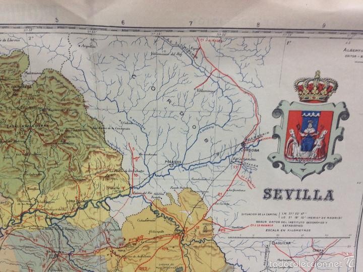 Mapas contemporáneos: MAPA PROVINCIA SEVILLA.INGENIERO BENITO CHÍAS YNG.ESCALA EN KILÓMETROS - Foto 6 - 56740260