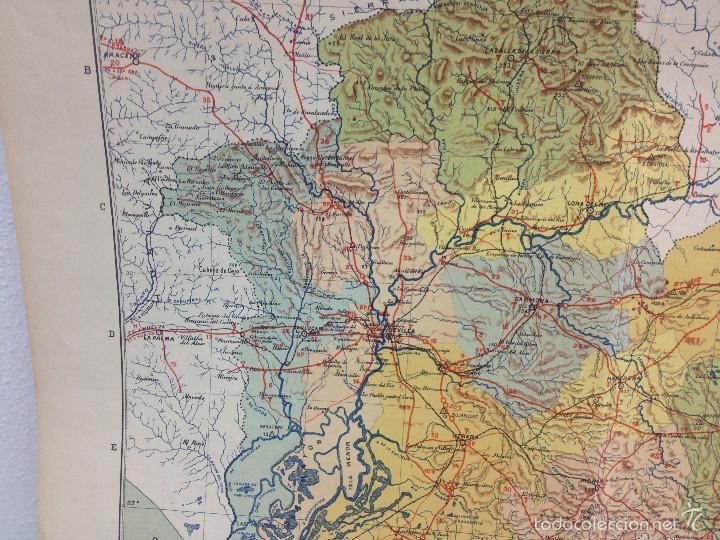 Mapas contemporáneos: MAPA PROVINCIA SEVILLA.INGENIERO BENITO CHÍAS YNG.ESCALA EN KILÓMETROS - Foto 7 - 56740260