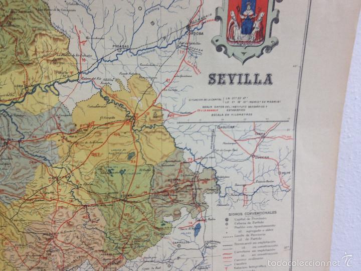 Mapas contemporáneos: MAPA PROVINCIA SEVILLA.INGENIERO BENITO CHÍAS YNG.ESCALA EN KILÓMETROS - Foto 10 - 56740260