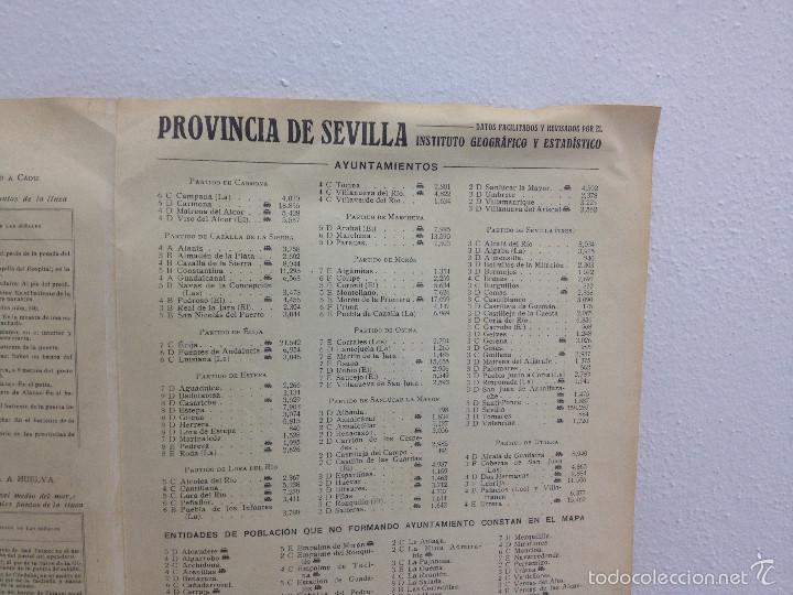 Mapas contemporáneos: MAPA PROVINCIA SEVILLA.INGENIERO BENITO CHÍAS YNG.ESCALA EN KILÓMETROS - Foto 17 - 56740260