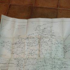 Mapas contemporáneos: MAPA DE CARRETERAS FRANCIA- EDICIÓN 1904- J.FOREST 51X56 CM. EN FRANCÉS. Lote 56806133