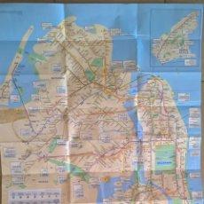Mapas contemporáneos: THE MAP, NEW YORK MAP. MAPA DE METRO NUEVO. Lote 121042495
