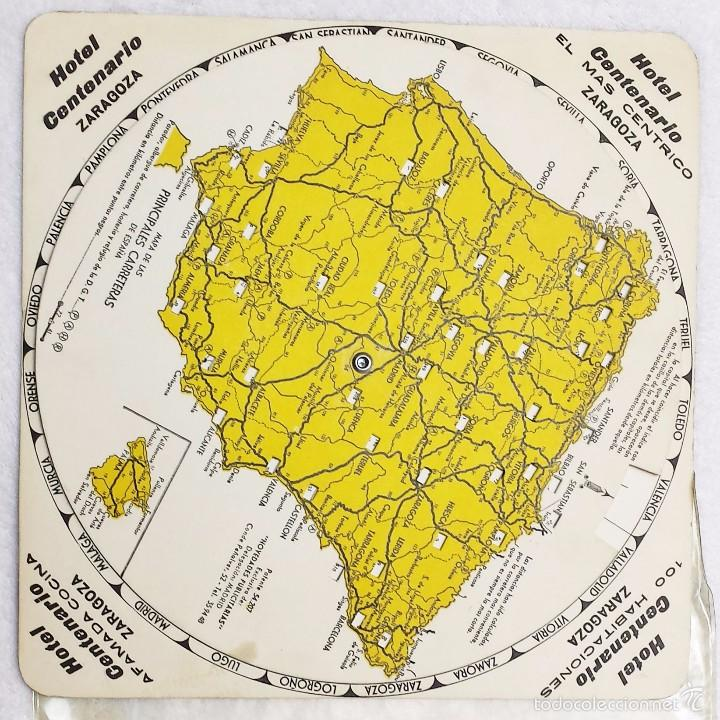 antiguo mapa de espaa giratorio distancias por  Comprar Mapas