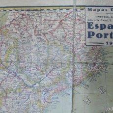 Mapas contemporáneos: MAPAS PALUZÍE. ESPAÑA Y PORTUGAL, 1938. . Lote 57020547