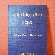 Mapas contemporáneos: MAPA INSTITUTO GEOLÓGICO Y MINERO DE ESPAÑA. HOJA Nº 389. DELEGACION BARCELONA MAPA ENTELADO-AÑOS 30. Lote 57523412