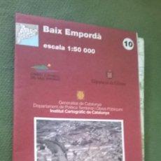 Mapas contemporáneos: MAPA BAIX EMPORDÀ. Lote 57525308