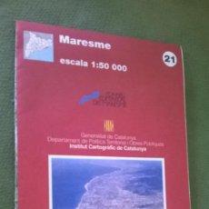 Mapas contemporáneos: MAPA MARESME. Lote 57525340