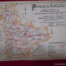 Mapas contemporáneos: ANTIGUO FOLLETO CON MAPA DE LA PROVINCIA DE VALLADOLID - AÑO 1932 -. Lote 57546869