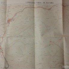 Mapas contemporáneos: PLANO ** OCHAGAVIA ** DE LA COMUNIDAD FORAL DE NAVARRA - 1991, 82,5 X 59 CM, - RUGOMA,S.A .. Lote 57561116