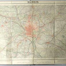 Mapas contemporáneos: MAPA EN TELA Á COLOR DE MADRID. Nº 559. ESCALA 1/25000. 2ª EDICIÓN. 1916.. Lote 57789376
