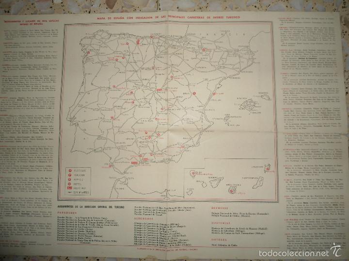 ANTIGUO MAPA ESPAÑA CARRETERAS Y FERROCARRILES - PUBLICACIONES DIRECCION GENERAL TURISMO (Coleccionismo - Mapas - Mapas actuales (desde siglo XIX))