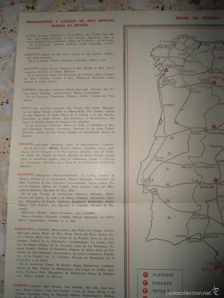 Mapas contemporáneos: ANTIGUO MAPA ESPAÑA CARRETERAS Y FERROCARRILES - PUBLICACIONES DIRECCION GENERAL TURISMO - Foto 4 - 57804049