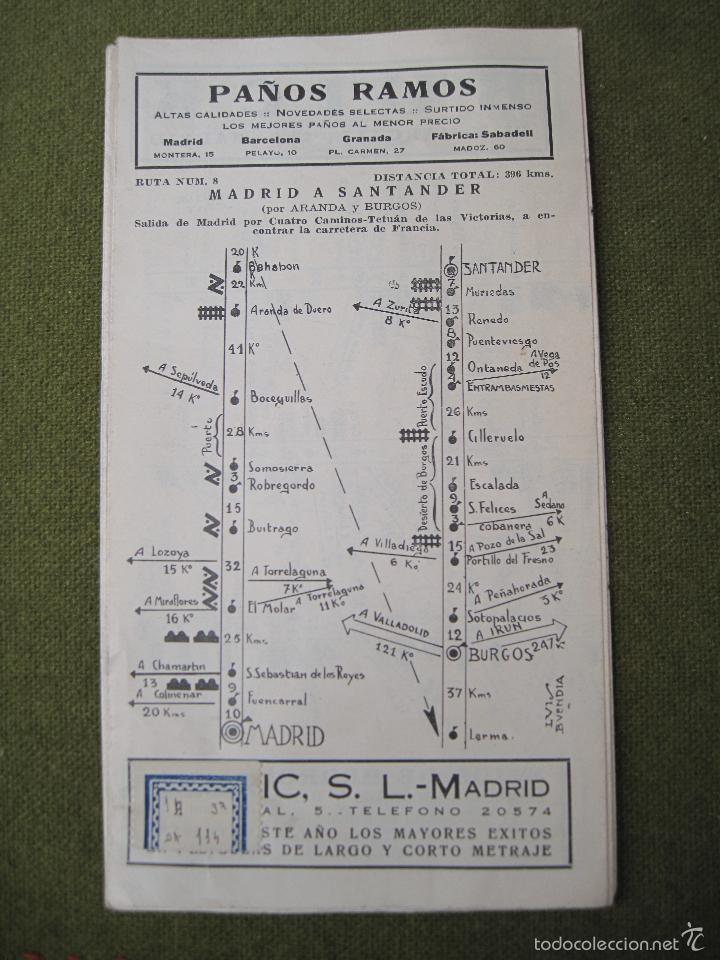 Mapas contemporáneos: GUIA RAGAY 1934 -1ª. EDICION DE CARRETERAS. - Foto 2 - 58285065