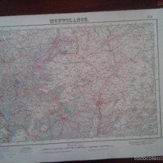 Mapas contemporáneos: MONTBLANC – MILITAR – MAPA DEL SERVICIO GEOGRÁFICO DEL EJERCITO – AÑO 1950 - MEDIDAS 69,5 X 49,8. Lote 58326159
