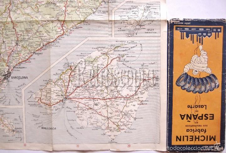 Mapas contemporáneos: MAPA DESPLEGABLE MICHELIN ESPAÑA Nº 43 ZARAGOZA - BARCELONA AÑOS 30 - 40 - Foto 4 - 58496329