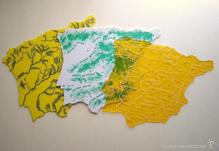 juego escolar de tres plantillas de mapas de es  Comprar Mapas