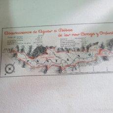 Mapas contemporáneos: MAPA DE ABASTECIMIENTO DE AGUAS A BILBAO DE LOS RIOS CERREJA Y ORDUNTE. Lote 58526888