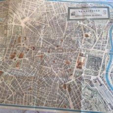 Mapas contemporáneos: PLANO DE MADRID, BANCO EXTERIOR DE ESPAÑA, DIRECTOR ARTISTICO: JORGE GUZMAN HERNANDEZ. Lote 58557846