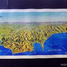 Mapas contemporáneos: MAPA PANORAMICO / COSTA DEL SOL - COSTA DE LA LUZ / INFORMACION TURISTICA / EDITA: BANESTO 1974. Lote 58559679