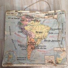 Mapas contemporáneos: ANTIGUO MAPA CARTEL ESCUELA COLEGIO SIGLO XIX AMERICA DEL NORTE Y SUR POLITICO LIBRERIA ARMAND COLIN. Lote 58564941
