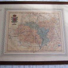 Mapas contemporáneos: MAPA DE LEÓN. LITOGRAFÍA MARTI CAMPAÑA. ALBERTO MARTÍN EDITOR.. Lote 58597104