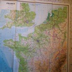 Mapas contemporáneos: MAPA DE FRANCIA, EDITORIAL INSTITUTO GEOGRÁFICO DE AGOSTINI, IMPRESO EN ITALIA, 1972-GRAN FORMATO. Lote 58614333