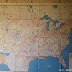 Mapas contemporáneos: MAPA DE ESTADOS UNIDOS DE AMÉRICA, IMPRESO EN FRANCIA POR IMP. MICHARD-PARIS, GRAN FORMATO. Lote 58614440