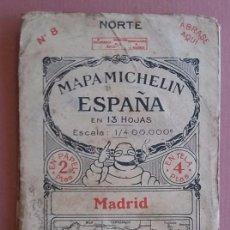 Mapas contemporáneos: MICHELIN 1920´S * ANTIGUO MAPA CARRETERAS DE MADRID * TAMAÑO DE 88 CM X 40 CM. Lote 58640887