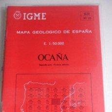 Mapas contemporáneos: OCAÑA. MAPA GEOLOGICO DE ESPAÑA. ESCALA 1:50.000. INSTITUTO TECNOLOGICO GEOMINERO DE ESPAÑA. LIBRO Y. Lote 59441335