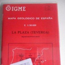 Mapas contemporáneos: LA PLAZA (TEVERGA). MAPA GEOLOGICO DE ESPAÑA. ESCALA 1:50.000. INSTITUTO TECNOLOGICO GEOMINERO DE ES. Lote 59441790