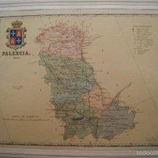 Mapas contemporáneos: MAPA PROVINCIA DE PALENCIA INGENIERO BENITO CHIAS GRABADO POR J SOLER 1901. Lote 59847576