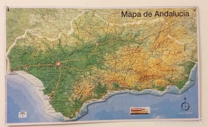 Mapa De Andalucía Físico.Mapa Fisico Magnetico De Andalucia Coleccion Diario Cordoba