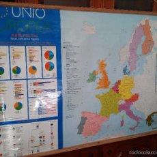 Mapas contemporáneos: UNION EUROPEA - MAPA POLITIC - ESTATS MENBRES I REGIONS 136 CM. X 90 CM.. Lote 60264611