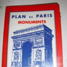 Mapas contemporáneos: METRO . PLAN DE PARIS MONUMENTS . Lote 61250547
