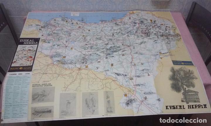 Mapas contemporáneos: MAPA DE EUSKAL HERRIA CAJA DE AHORROS VIZCAINA AÑOS 60-70 - Foto 2 - 61575996